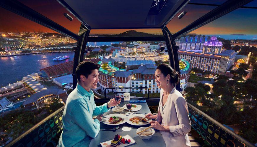 سنغافورة. عشاء في السماء على متن التلفريك