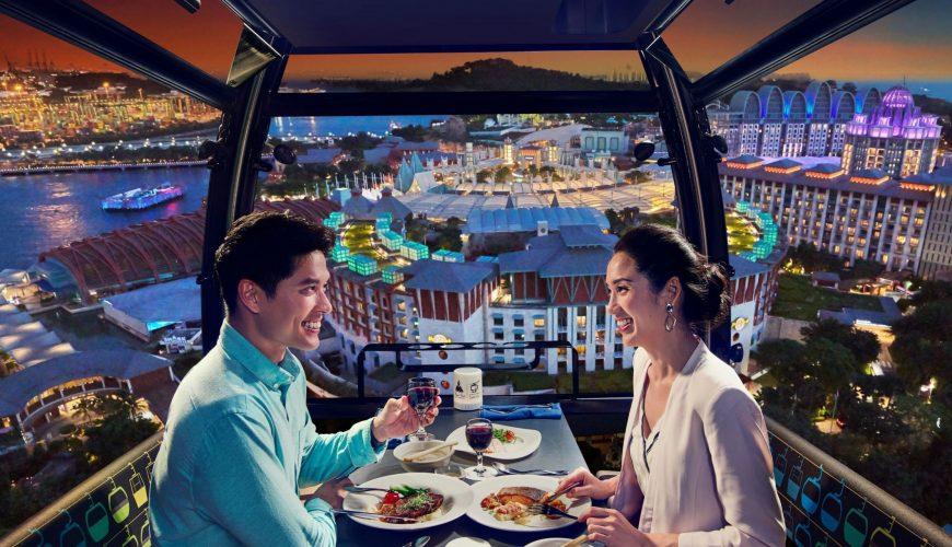 singapore. faber cable car sky dining